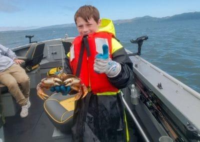 Crab on boat